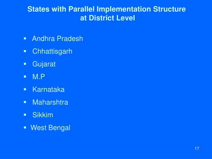 States with Parallel Implementation Structure