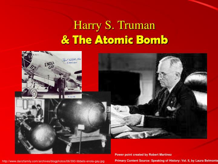 Harry s truman the atomic bomb