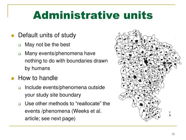 Administrative units