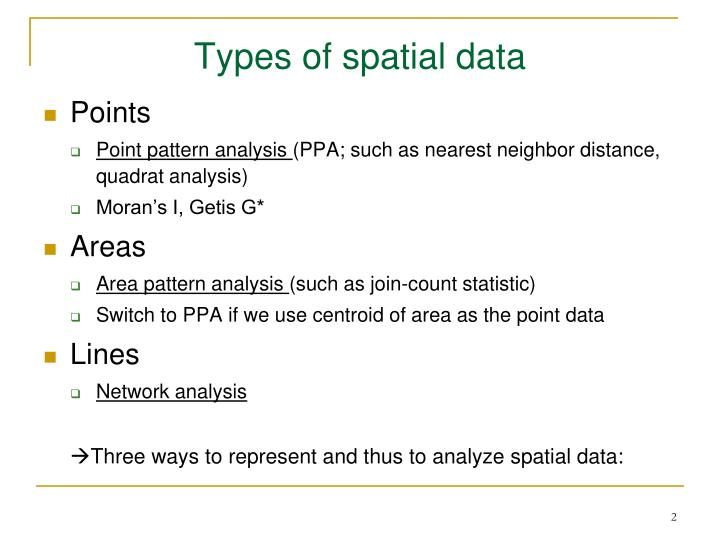 Types of spatial data
