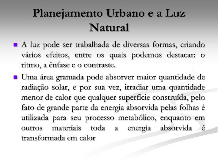 Planejamento Urbano e a Luz Natural