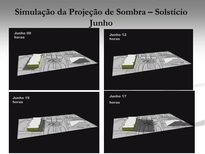 Simulação da Projeção de Sombra – Solstício Junho