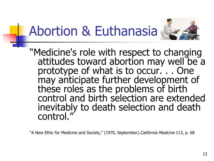 Abortion & Euthanasia
