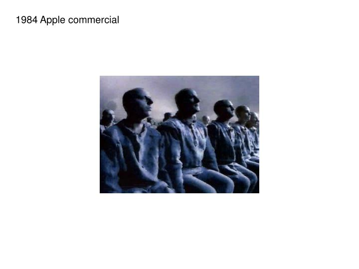 1984 Apple commercial