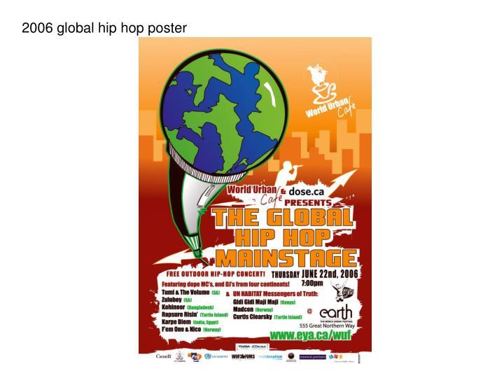 2006 global hip hop poster