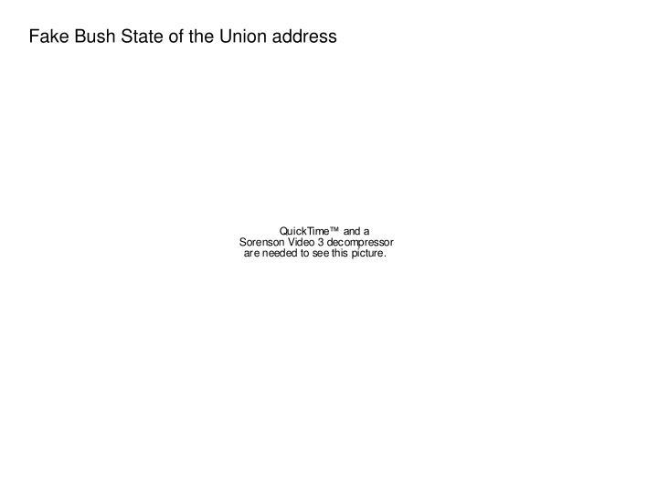 Fake Bush State of the Union address