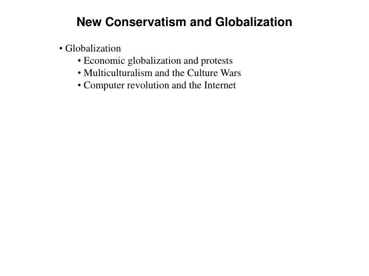New Conservatism and Globalization