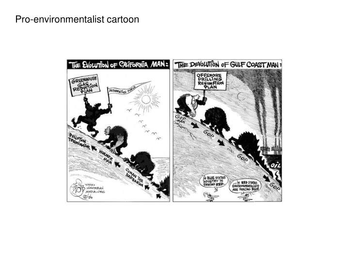 Pro-environmentalist cartoon