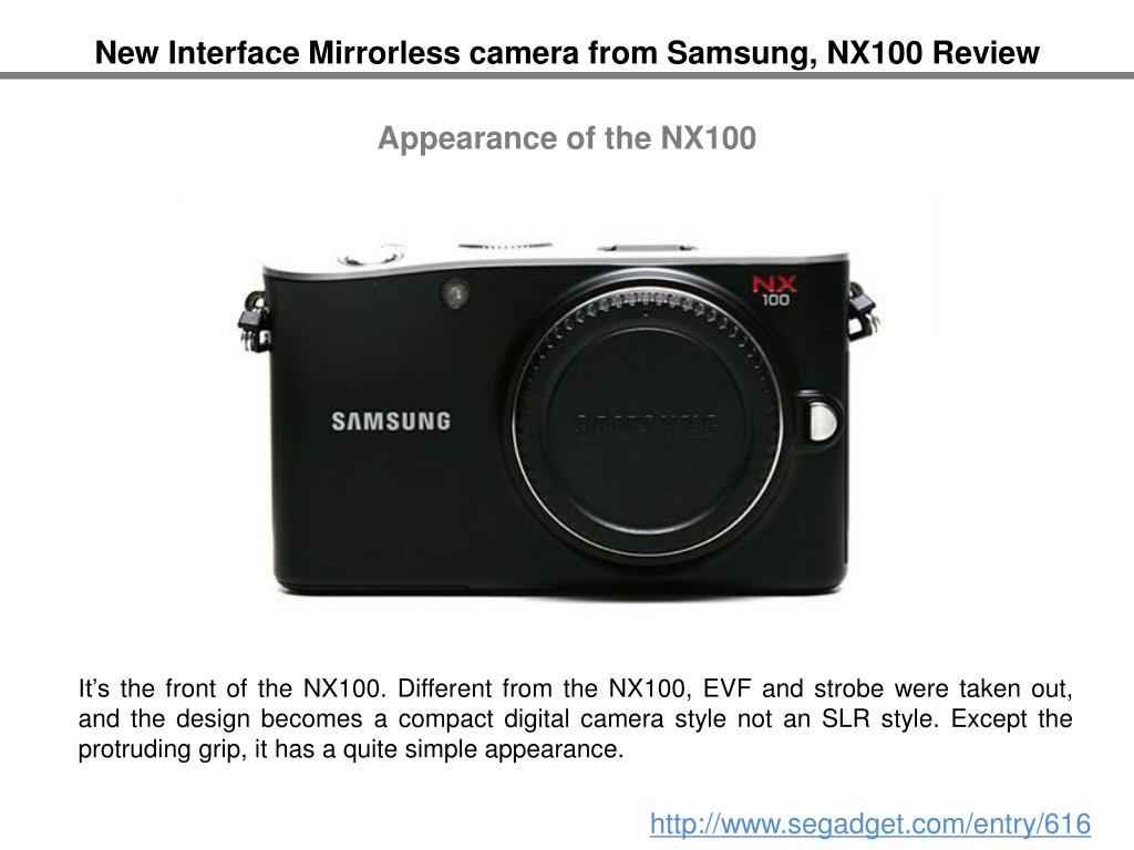 New Interface Mirrorless camera from Samsung, NX100 Review