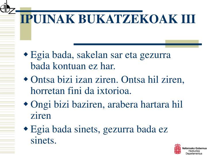 IPUINAK BUKATZEKOAK III