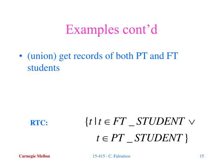 Examples cont'd