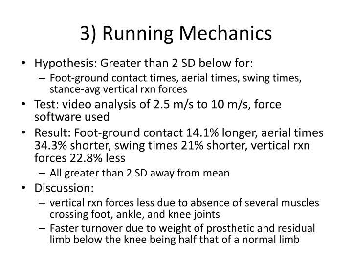 3) Running Mechanics