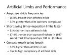 artificial limbs and performance