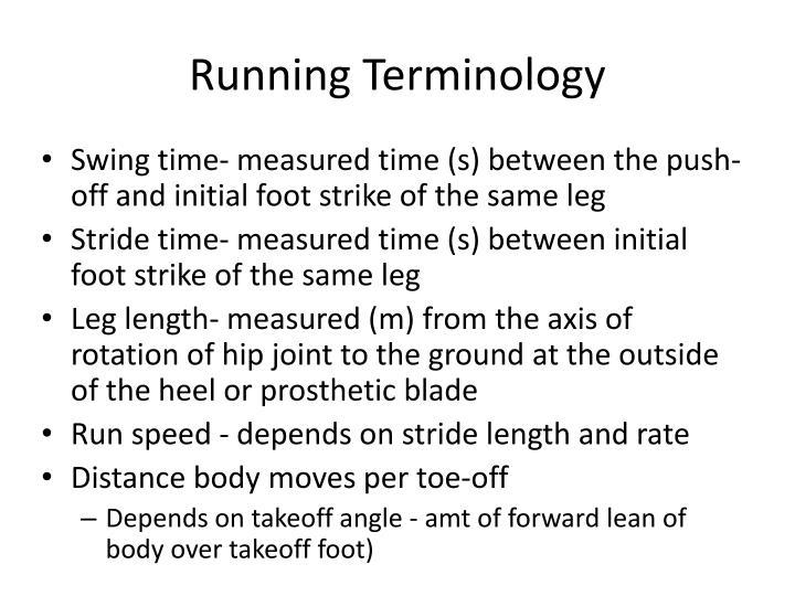 Running Terminology