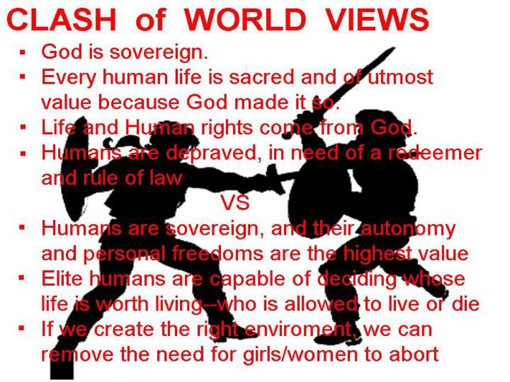 CLASH  of  WORLD  VIEWS