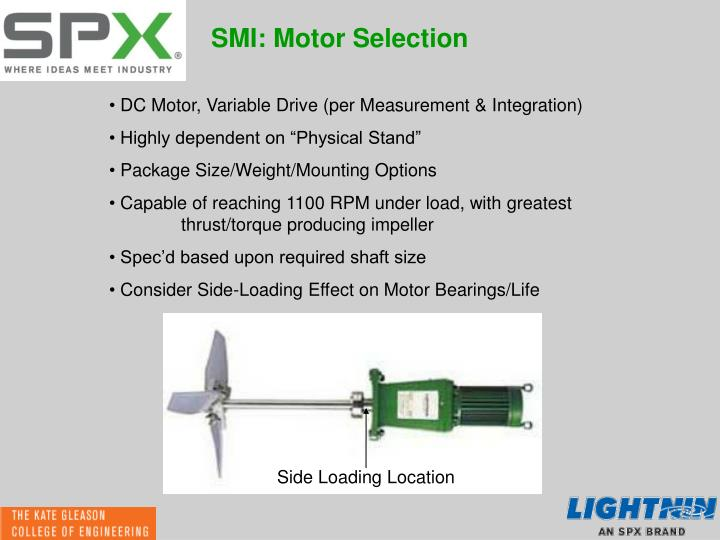 SMI: Motor Selection