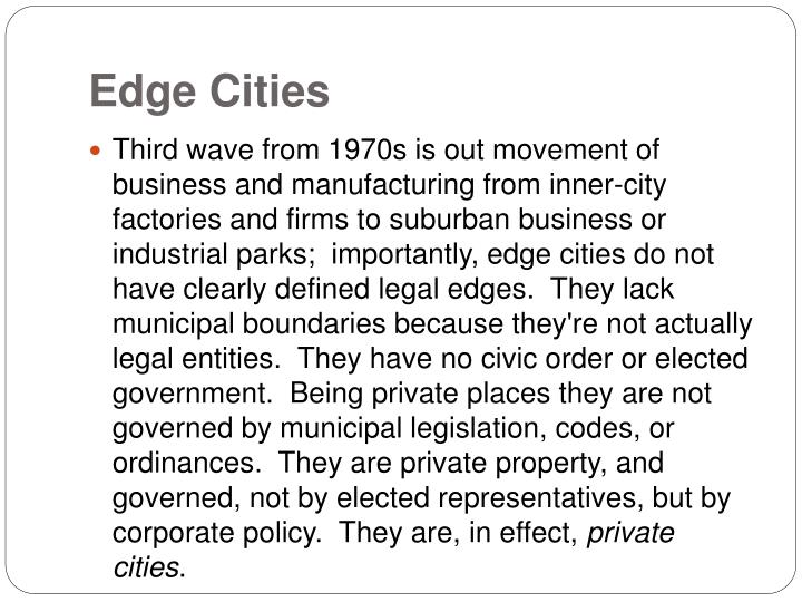 Edge Cities