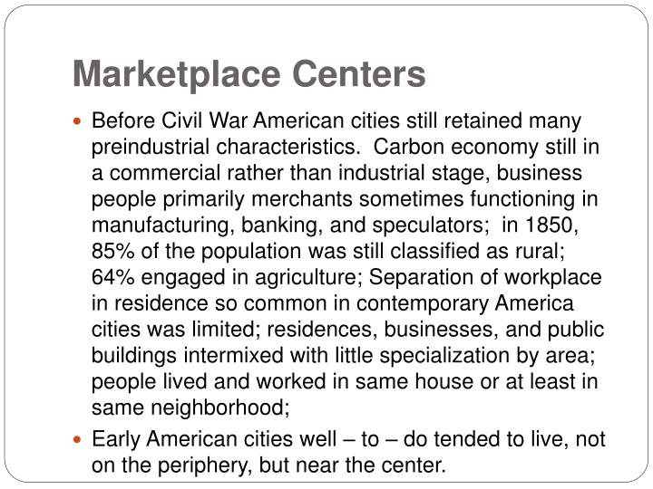Marketplace Centers
