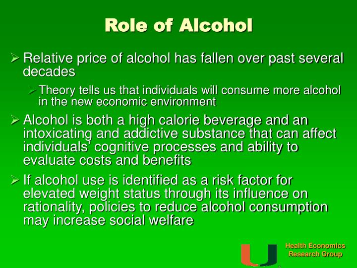 Role of Alcohol