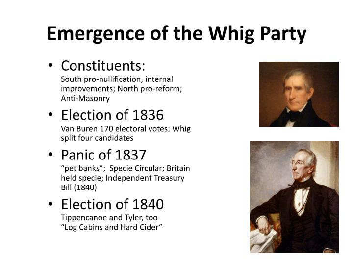 Emergence of the Whig Party