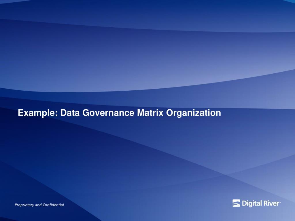 Example: Data Governance Matrix Organization