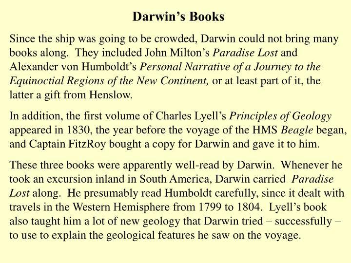 Darwin's Books