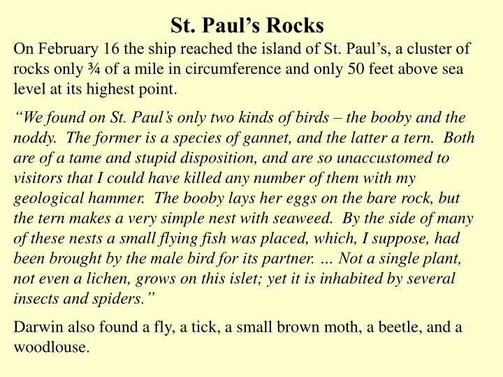 St. Paul's Rocks