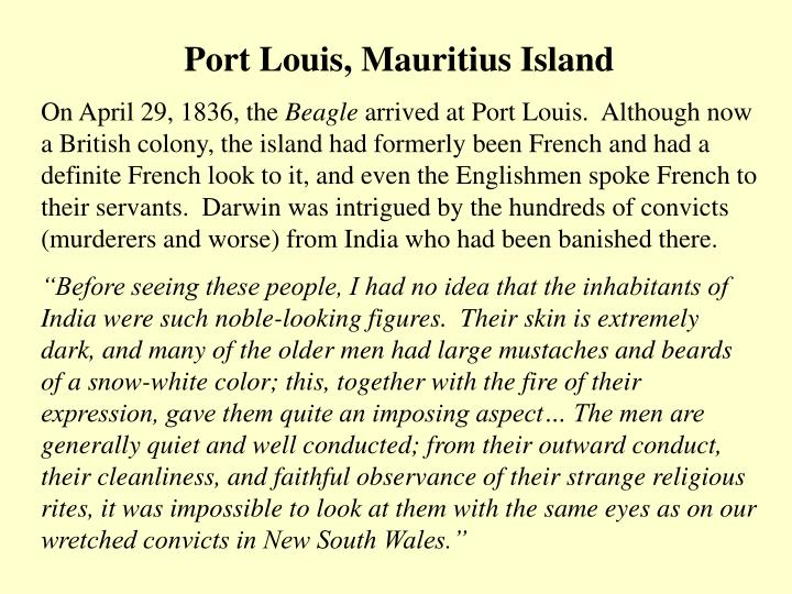 Port Louis, Mauritius Island