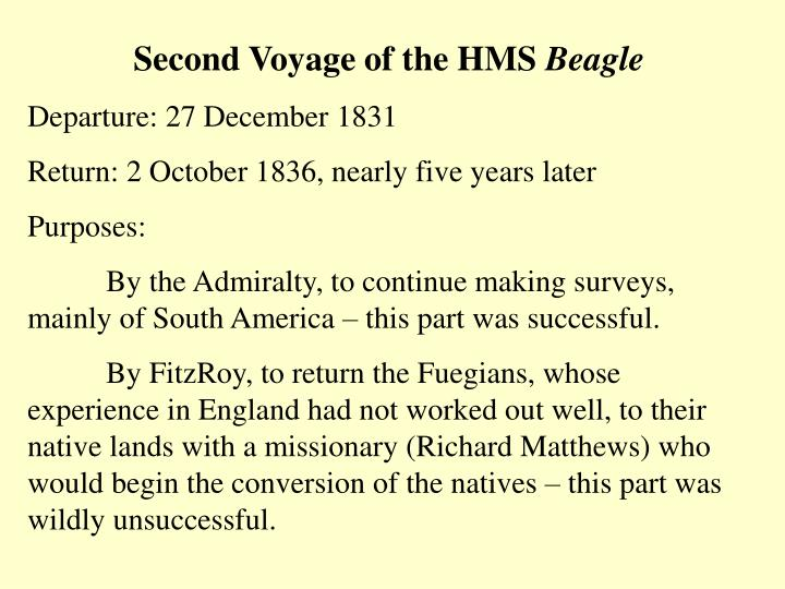 Second Voyage of the HMS