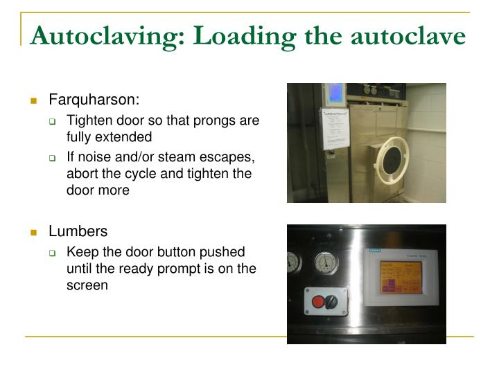 Autoclaving: Loading the autoclave