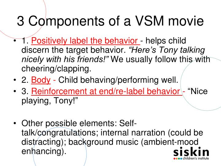 3 Components of a VSM movie