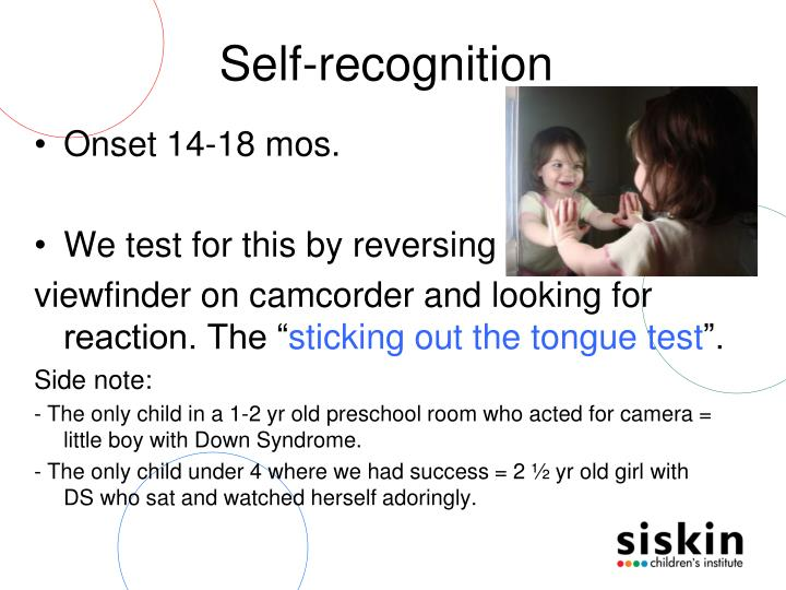 Self-recognition