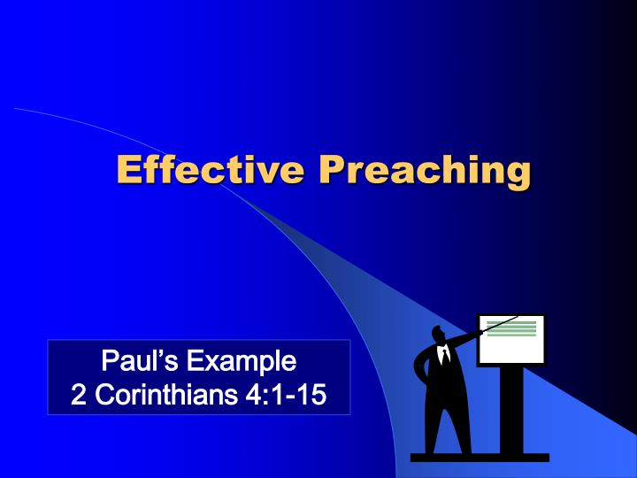 Effective Preaching