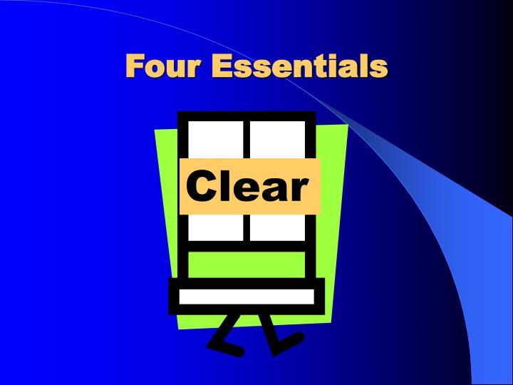 Four Essentials
