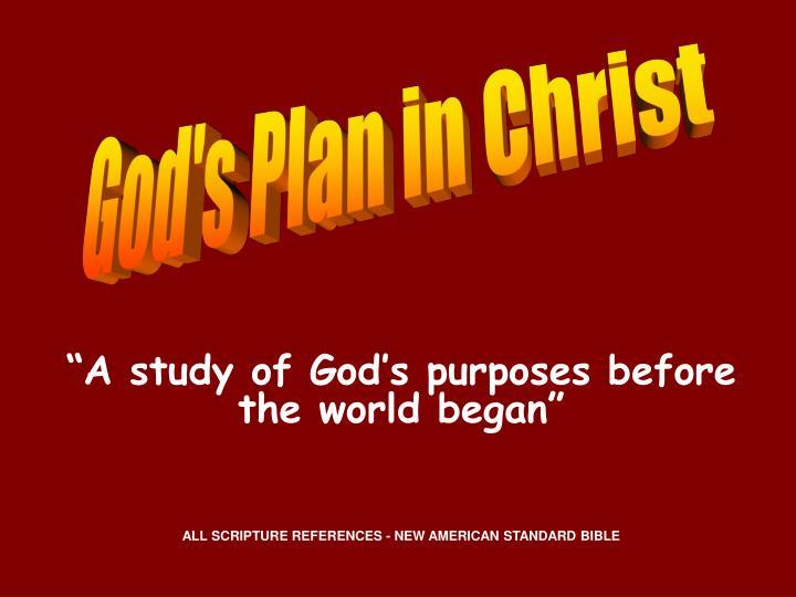 God's Plan in Christ