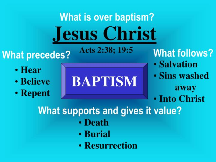 What is over baptism?