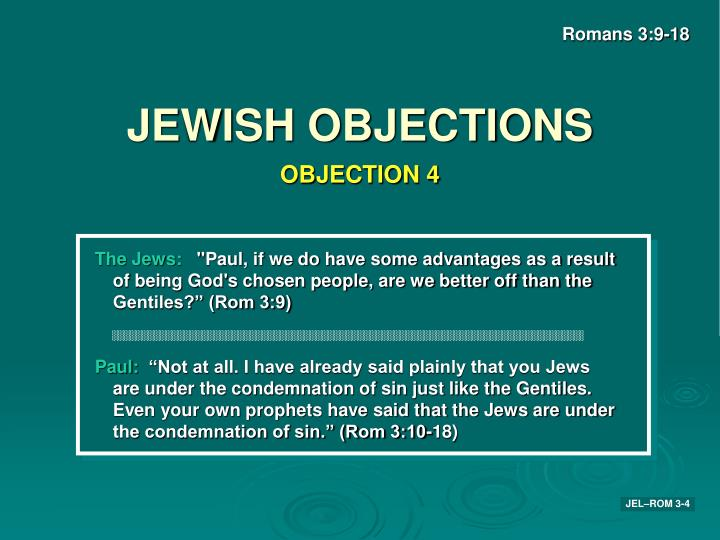 JEWISH OBJECTIONS