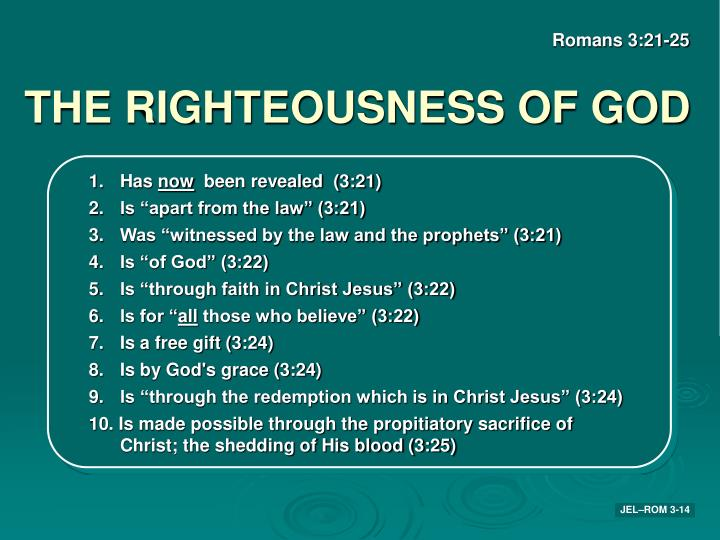 THE RIGHTEOUSNESS OF GOD