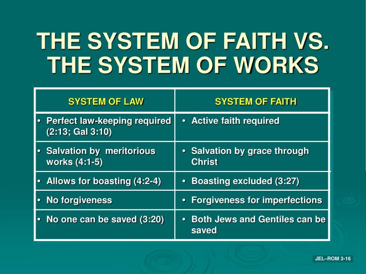 THE SYSTEM OF FAITH VS.