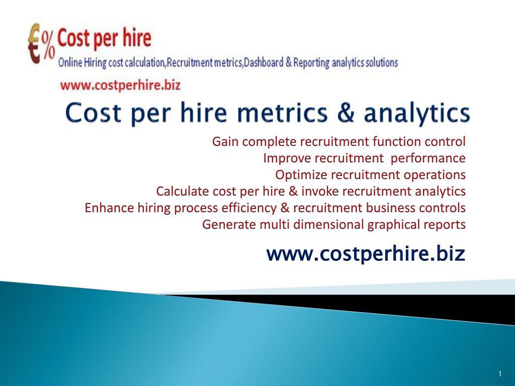 Cost per hire metrics & analytics