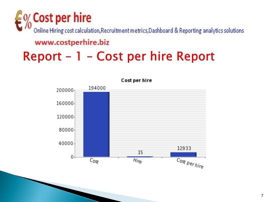 Report – 1 – Cost per hire Report
