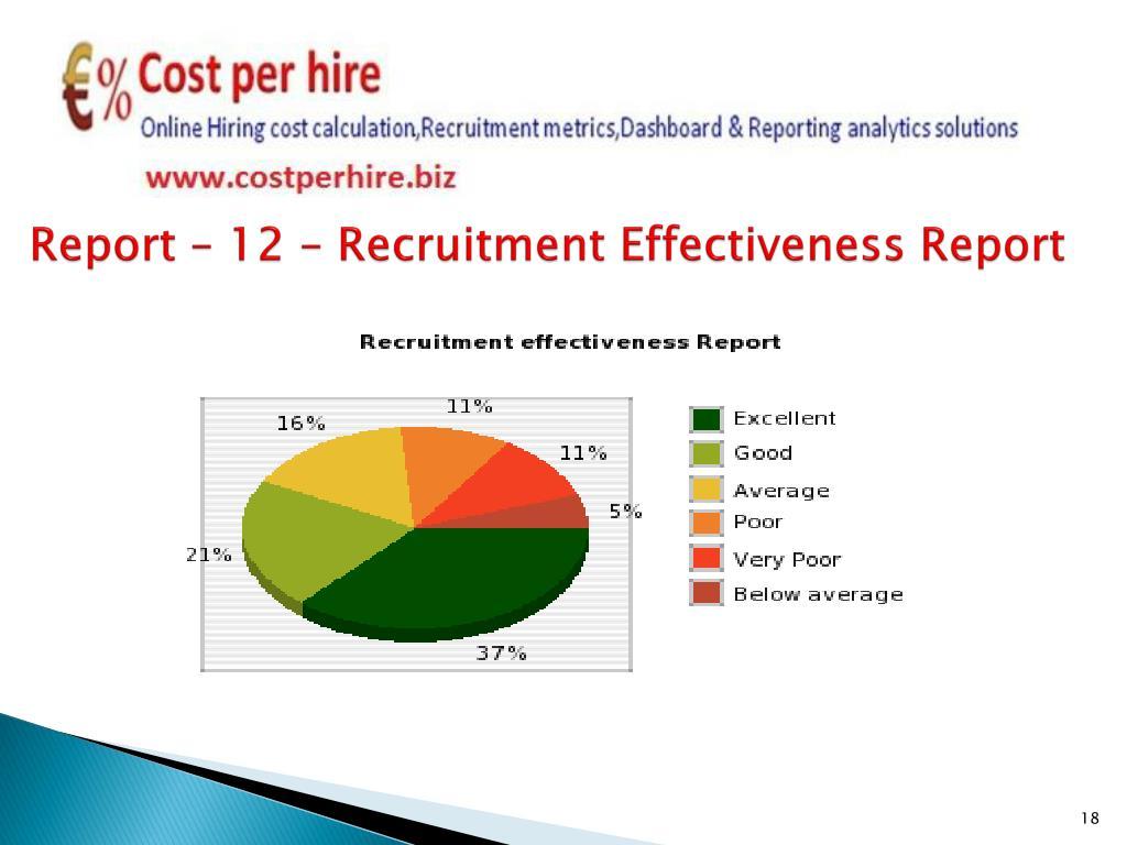 Report – 12 – Recruitment Effectiveness Report