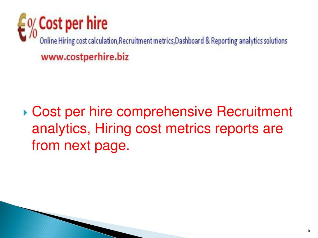Cost per hire comprehensive Recruitment analytics, Hiring cost metrics reports are from next page.