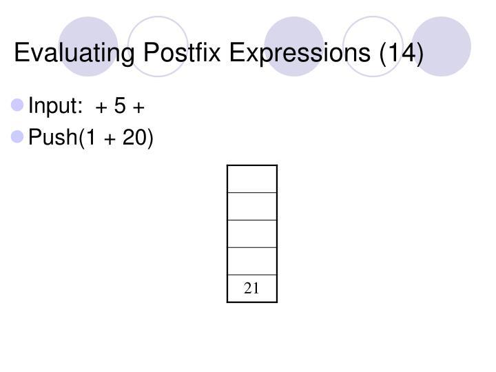 Evaluating Postfix Expressions (14)