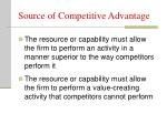 source of competitive advantage