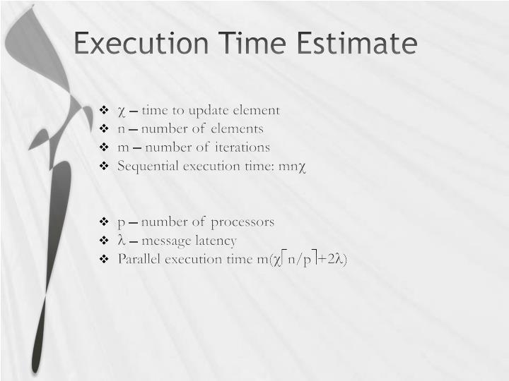 Execution Time Estimate