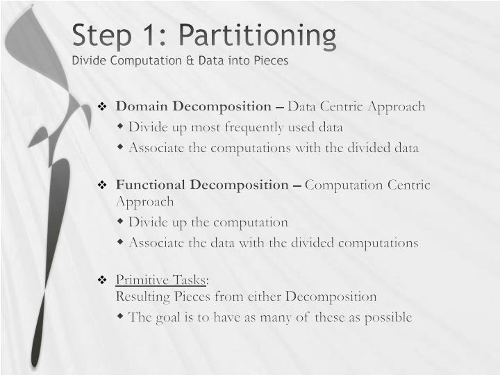 Step 1: Partitioning