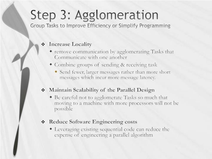 Step 3: Agglomeration