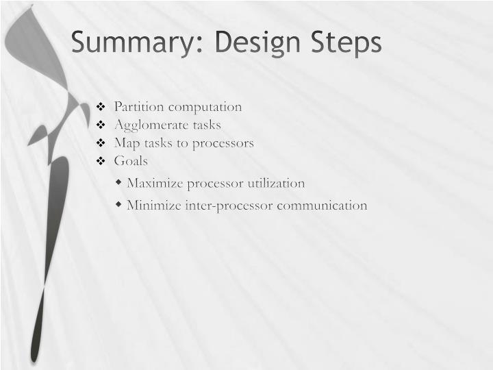 Summary: Design Steps