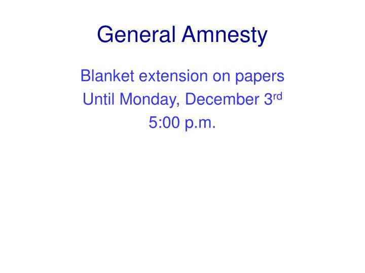 General Amnesty